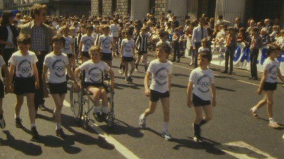 Community Games Parade on O'Connell Street, Dublin (1988)