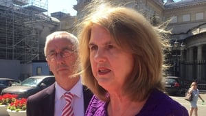 Joan Burton was at a meeting on public order issues when her house was broken into