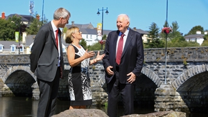 Fexco CEO Denis McCarthy, Enterprise Ireland's CEO Julie Sinnamon and Fexco founder Brian McCarthy