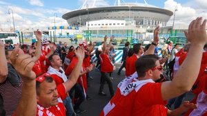 Supporters of Swizerland at Saint-Petersburg Stadium