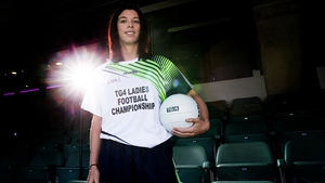Aoife McDonnell at the launch in Croke Park