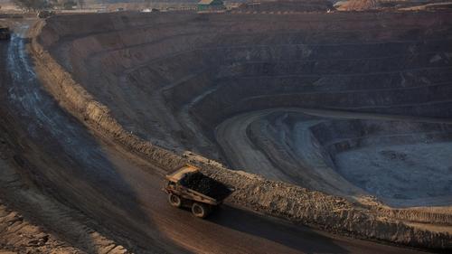 One of Glencore's open pit copper mines at Kolwezi in the Democratic Republic of Congo