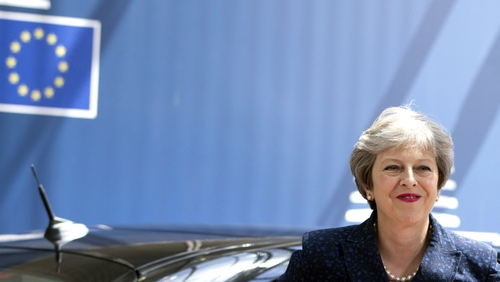 British Prime Minister Theresa May arrives at the EU summit  in Brussels last month. Photo: Virginia Mayo AFP/Getty Images