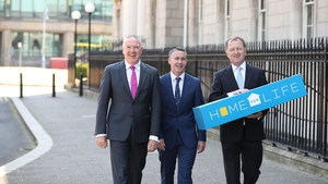 Mr Damien English, TD, Minister of State with Special Responsibility for Housing and Urban Development, Mr Paul Cunningham, CEO, Home For Life and Mr Charlie O'Reilly Hyland, chairman, Home For Life.