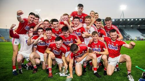 Cork celebrate a second Munster title inside a week