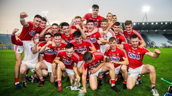 Cork celebrate a second Munster title inside a week