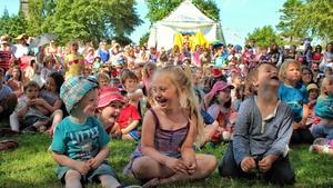 Cairde Sligo Arts Festival punters at the Parkfest in Sligo's Peace Park