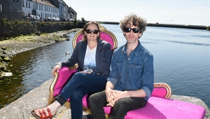 Sonya Kelly (left) with her Furtniture director Cathal Cleary (right).