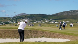 Shane Lowry playing the second round of the Irish Open in Ballyliffin