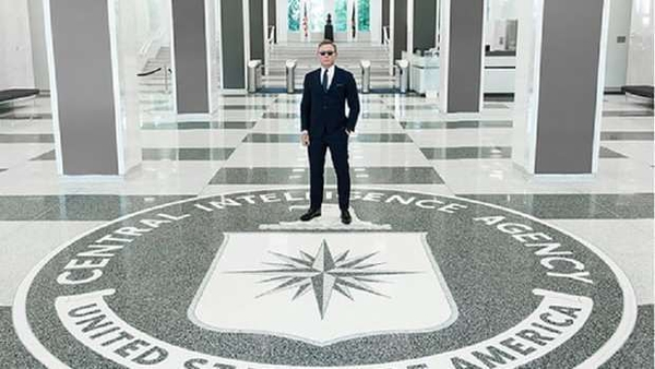 Craig visited CIA HQ on June 26. Photo: CIA