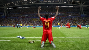 Romelu Lukaku excelled for Belgium out on the wing