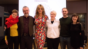 This week's Pantisocracy features (L to R) Ruth McGill, Michael Harding, Panti Bliss, Amy Conroy, Ronan Brady and Jessica Traynor.