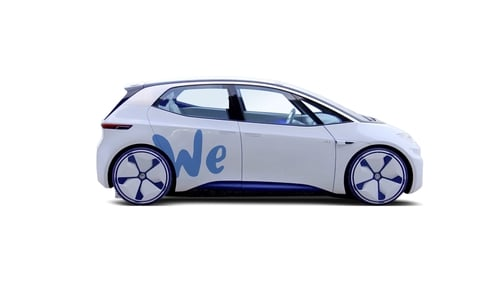 Volkswagen's on-demand cars will be all electric vehicles.