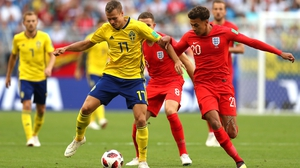 A tense opening to the meeting of Sweden and England at the Samara Arena