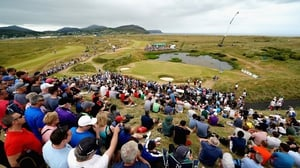 Crowds watching the third round of the Irish Open at Ballyliffin