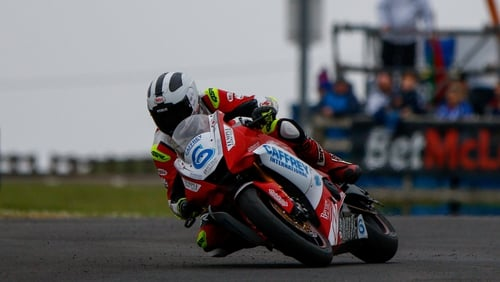 Dunlop in action at the North West 200