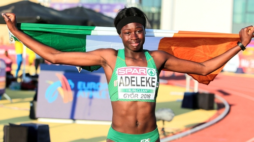 Rhasidat Adeleke collected Ireland's second gold of the championships