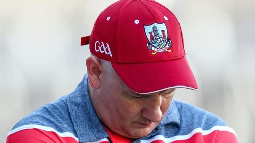 Head down: Cork manager Ronan McCarthy