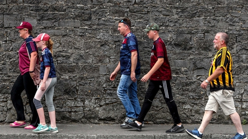Galway and Kilkenny fans make their way to Semple Stadium