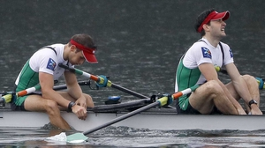 Gary and Paul O'Donovan finished second on the River Thames