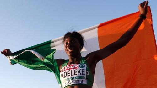 Rhasidat Adelekewon gold for Ireland in Hungary