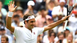 Roger Federer is in to the last eight