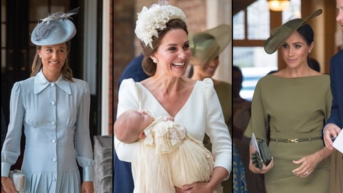 Here's what Kate, Pippa and Meghan wore to Louis' christening
