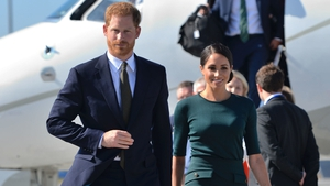 Prince Harry and Meghan Markle have landed in Dublin