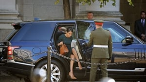 The royal couple then moved on to Government Buildings