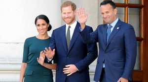 The couple will now move on to a summer party at the British Ambassador's residence in Sandyford