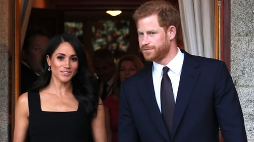 Meghan and Harry attend a summer garden party on their first day in Ireland