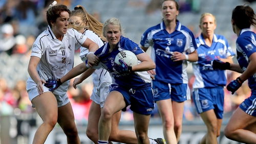Mairéad Wall in action during the 2014 All Ireland Ladies Intermediate Football Championship Final in Croke Park