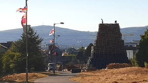 The bonfire site on Bloomfield Walkway is deemed to be too close to homes in the area