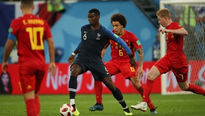 Paul Pogba impressed in France's 1-0 victory over Belgium