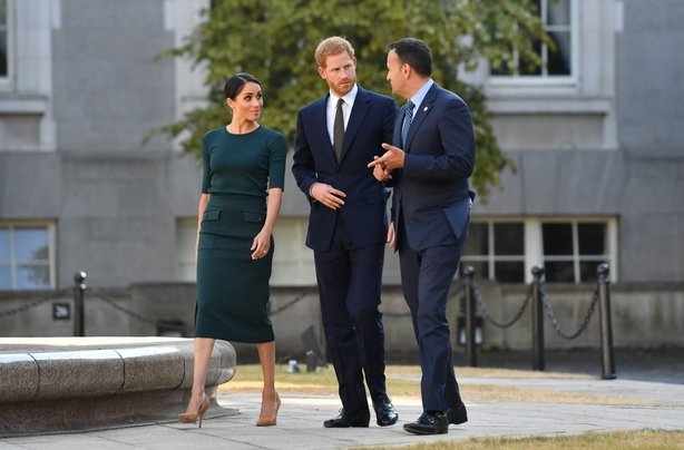Prince Harry, Duke of Sussex and Meghan, Duchess of Sussex attend a meeting at the Taoiseach with Leo Varadkar