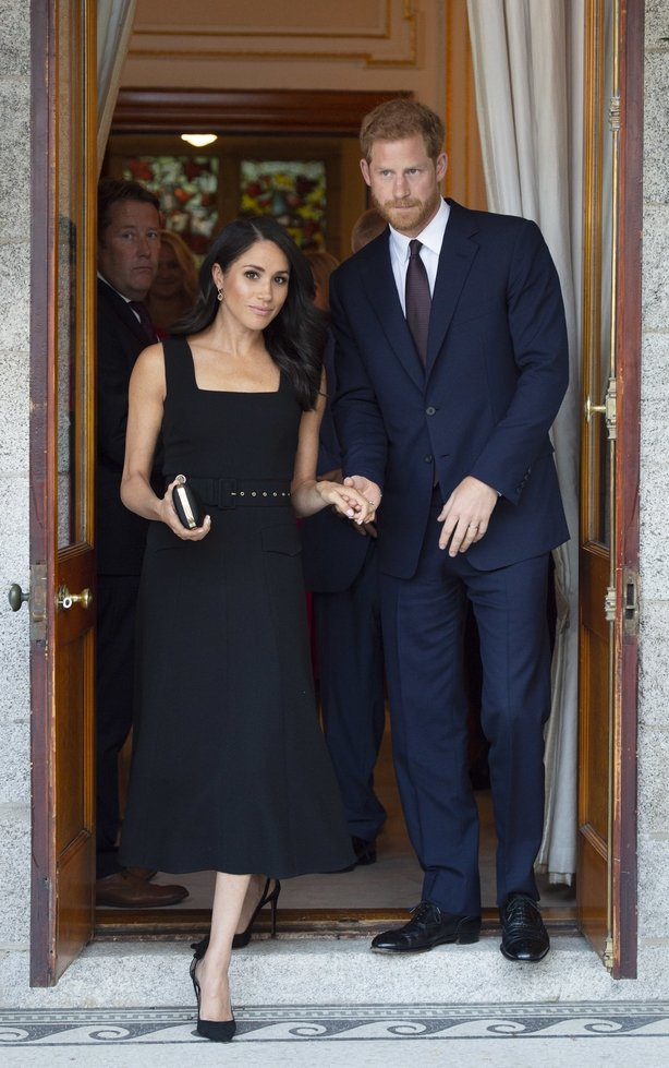 Prince Harry and Meghan,attend a reception at Glencairn