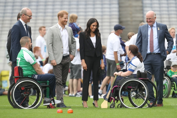 Duchess of Sussex speak to players who are involved in community outreach projects