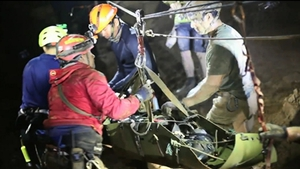 The boys were sedated for safety before being taken out of the cave