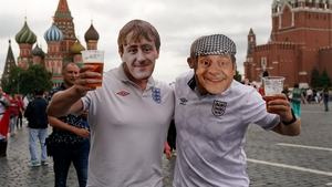 It was all looking cushty in Red Square before kick-off