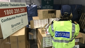 The cigarettes were found in a container that arrived in Dublin from Rotterdam