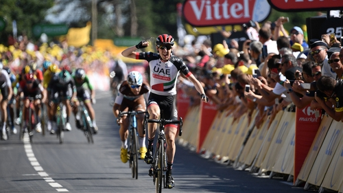 Dan Martin won the 181km sixth stage of the race