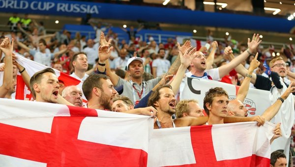 A section of England fans at the World Cup semi-final are accused of discriminatory chanting