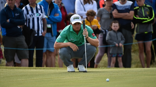 Paul Dunne is among a cluster of players four shots off leader Luke List after the opening round of the Scottish Open