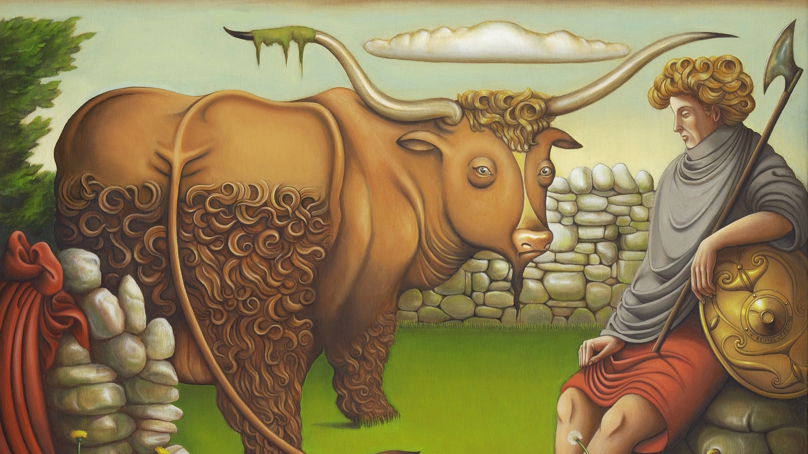 Image - Cú Chulainn and the Bull: Karl Beutel (2003) Armagh County Museum Collection