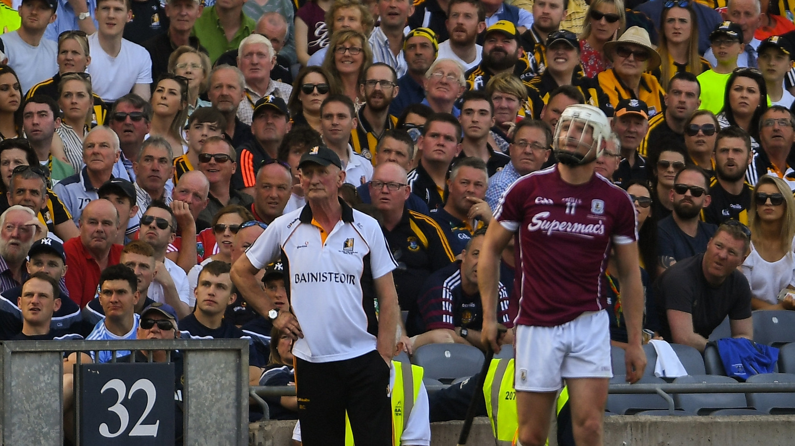 Image - Brian Cody watches on as Joe Canning takes a late free in this year's drawn Leinster hurling final