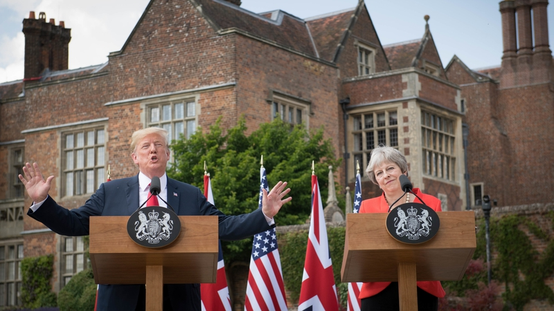Image result for TRUMP AND MAY PRESS CONFERENCE 2018