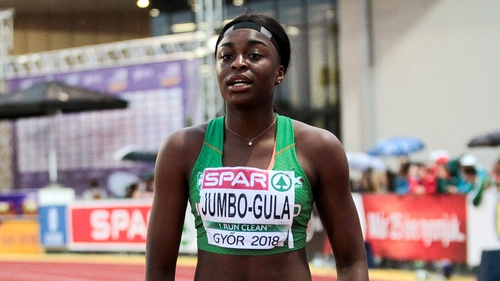 Patience Jumbo-Gula and her team-mates have qualified for the 4x100m relay final