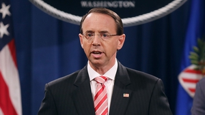 Rod Rosenstein said he had briefed Donald Trump about the indictment before the announcement