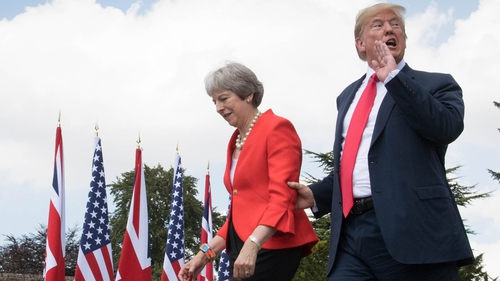 US President Donald Trump and Theresa May spoke together at Chequers