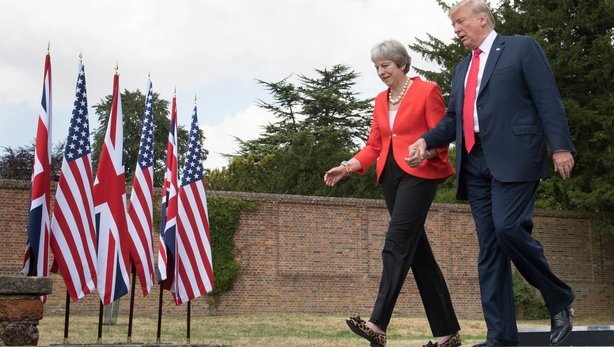 Theresa May takes revenge on Donald Trump over trade deal row